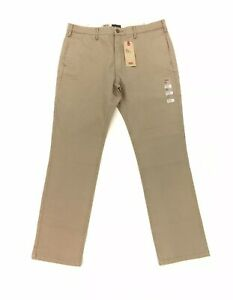 NEW Levi's Strauss 511 Slim Fit Mens Chino Pants Brown Stretch Flat Front NWT