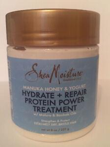 Shea Moisture Manuka Honey & Yogurt, Hydrate + Repair Protein PowerTreatment 8oz