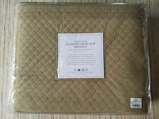 NEW RESTORATION HARDWARE RH VINTAGE WASHED MATELASSE DIAMOND QUILT KING COVERLET