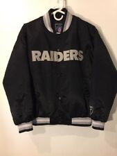 Oakland Raiders Officially Licensed NFL Satin Jacket Youth Large L Mens Small S