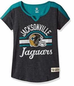 "NFL Girls 7-16"" Tribute Football Tee - Jacksonville Jaguars - Youth Large (14)"