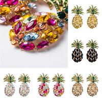 Fashion Charm Women Crystal Pineapple Drop Dangle Earrings Jewelry Wedding Gift