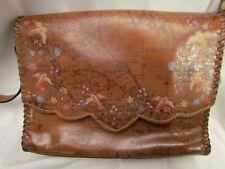 New ListingPatricia Nash Leather Sarola Crossbody Purse Handbag Floral Map Saddle