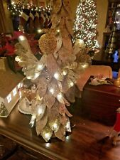 Pottery Barn Lighted Birch Angel Christmas Tree Topper With Box