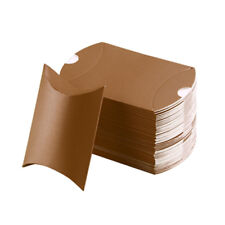 10/50pcs Candy Box Kraft Paper Pillow Gift Boxes Wedding Party Favors Bags