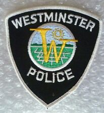 Patch- Westminster US Police Patch (New* )