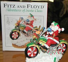Fitz and Floyd Motorcycle Adventures of Santa Claus Jingle Bells Music Box w/box