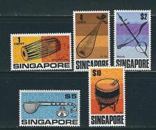SINGAPORE 1969 MUSICAL INSTRUMENTS (Scott 107-111) VF MLH