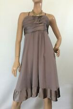 🌻 FOREVER NEW SIZE 10 CROSS FRONT DRESS WITH SATIN TRIM BNWT RRP $99.00