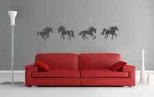 Running Horses Wall Decal Horse Wall Sticker Set of 4 Horses Wall Decor ik926
