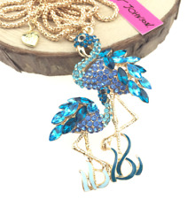 Jewelry Betsey Johnson Pendant crystal Rhinestone swan Golden Chain necklace Hot