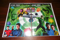 STAR TREK GREEN LANTERN #1 SDCC EXCLUSIVE VARIANT CONNECTING COVERS A&B SET