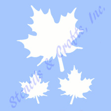 """Maple Stencil Leaf Leaves Craft Stencils Reusable Durable Template New 6"""" X 5"""""""