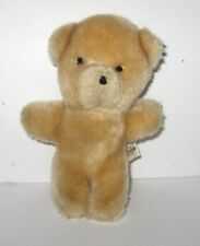 "Sheaffer Eaton Textron Mini Plush Beige Teddy Bear Vintage 4.5"" Made in Korea"