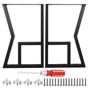 2x Industrial Metal Steel Table Legs Dining/Bench/Office/Desk Legs Set K Frame