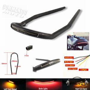 """7/8"""" Tube Frame Seat Loop Tail Light For Cafe Racer CD125-200 CB125 CG125 Bikes"""