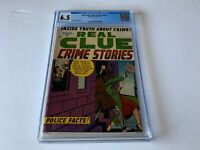 REAL CLUE CRIME STORIES V8 1 CGC 6.5 KNIFE KNIFING COVER PRE CODE HILLMAN COMIC