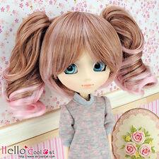"""【HT-GL2226】Pullip Taeyang DAL 8.0~9.5"""" HP Wigs w/Hair Pin # Brown+Pink"""