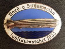 ORIGINAL AIRSHIP GRAF ZEPPELIN LZ127 NORTH-SOUTH AMERICA FLIGHT BADGE 1933