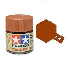 Tamiya Colore acrilico MARRONE METALLIZZATO plastica metallo TAMIYA X-34 10ml