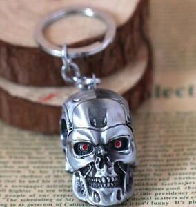 DZ880 Terminator T-850 Mechanical 3D head silver 6cm Metal Keychain KeyringΔ