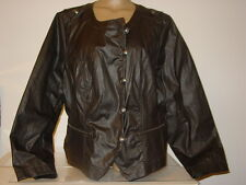 Lane Bryant black gray moto biker jacket button front thick pleated back-26-NWT
