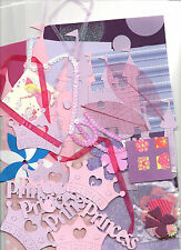 LITTLE PRINCESS GIRLY CARD KIT TO MAKE 5 X A6 CARDS FREE FIRST CLASS POSTAGE