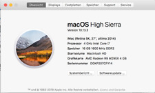 Apple imac Retina 27 zoll 2014 4 GHz 16GB RAM 250GB SSD im OVP