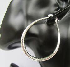 925 Silber XXL Creolen ca.51 mm ° 4 mm Baumeln Hänger Spiegel Schlangenoptik