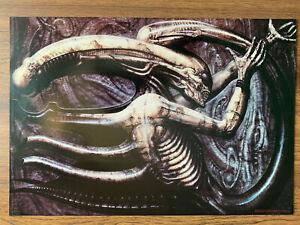 H R Giger ALIEN NECRONOM IV 4 Poster Offset Lithograph Print (c)1976 - 80's