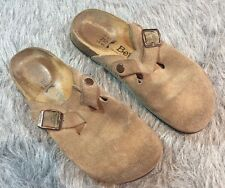 Birkenstock Betula Women's Taupe Suede Slip On Rock Clogs Boston Sz:39 8 US