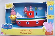 PEPPA PIG - GRANDPA PIGS HOLIDAY TIME BOAT - BRAND NEW & BOXED AS IMAGE!