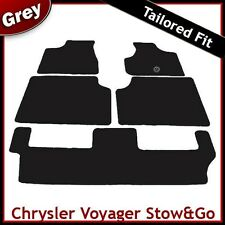 Chrysler Voyager Stow & Go 2005 - 2007 2008 Tailored Fitted Carpet Car Mats GREY