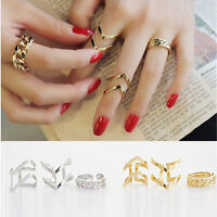 Fashion Accessories Jewelry New Punk Cuff Finger Ring 3pcs/set Gift for Women 3C