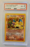 Pokemon 10 Card Lot Charizard 1999 Base Set PSA 8 EX/GX/V *READ DESCRIPTION*