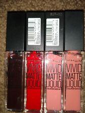 4 Different Colors Maybelline Color Sensational Vivid Matte Liquid Lip Color