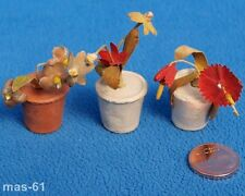 Flores en miniatura 1:12 casa de muñecas muñecas Tube vintage Flowers