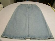 Vivaldi Women's Casual Work Office Maxi Denim Jean Skirt Size  14