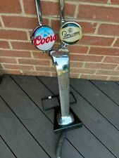 More details for beer font/tap double head chrome. man cave.