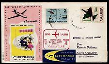 """Erstflug LH """"Hamburg - Paris"""" ab Argentinien RRR !! 1.4.1964 -selten- HS 615"""