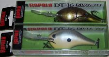LOT OF 2 RAPALA DIVES-TO, DT-16, DT16, DSSD, MSY, DEEP RUNNING, BALSA LURE