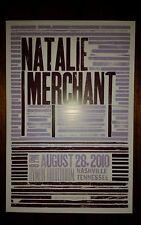 NATALIE MERCHANT Ryman HATCH SHOW PRINT Nashville 2010 Tour Poster 10000 Maniacs