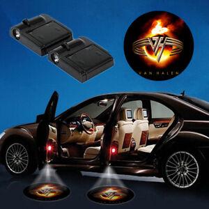 2x Wireless Led Car Door Light The Rolling Stones Logo Led Car Interior Lights