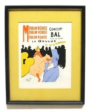 Vintage Toulouse Lautrec Moulin Rouge Print Silk Screened Modern Classics NY 50s