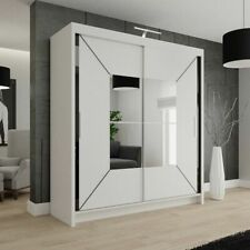 Mdf Chipboard 2 Wardrobes With Sliding Doors For Sale Ebay