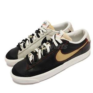 Nike Blazer Low 77 PRM Black Natural Removable Swoosh Men Casual Shoe DH4370-001