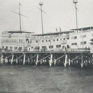 Venice Los Angeles California 1906 Cabrillo Ship Hotel Pier Dock Photo J108