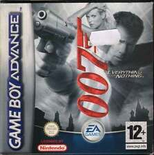 007: Everything or Nothing Game Boy Advance GBA Nuovo 5030935035445