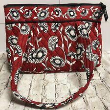 VERA BRADLEY Red Bag With Black and White Floral Design Shoulder Bag