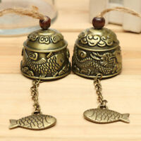 Chinese Dragon/Fish Feng Shui Bell Good Luck Fortune Hanging Wind Chime Braw
